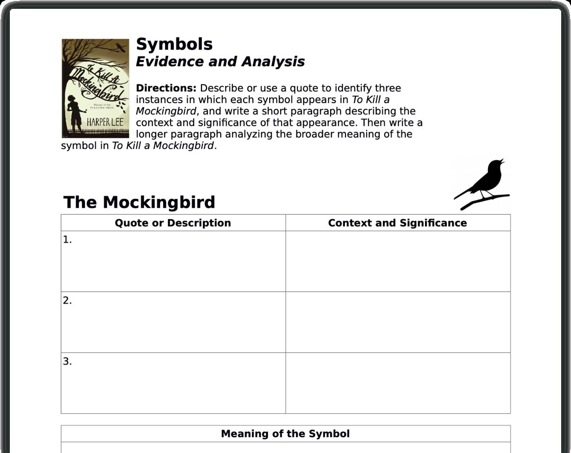 Symbol analysis
