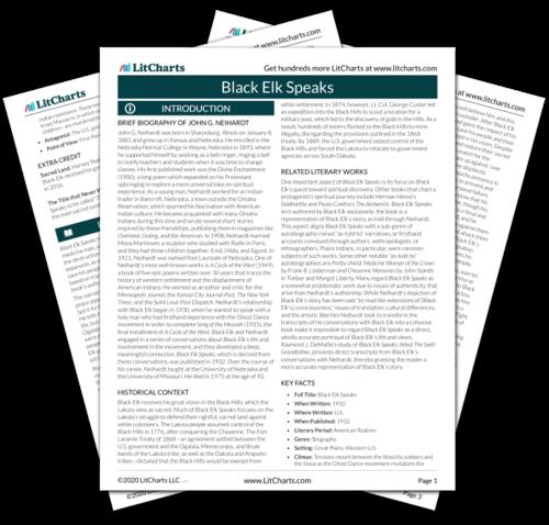 The printed PDF version of the LitChart on Black Elk Speaks