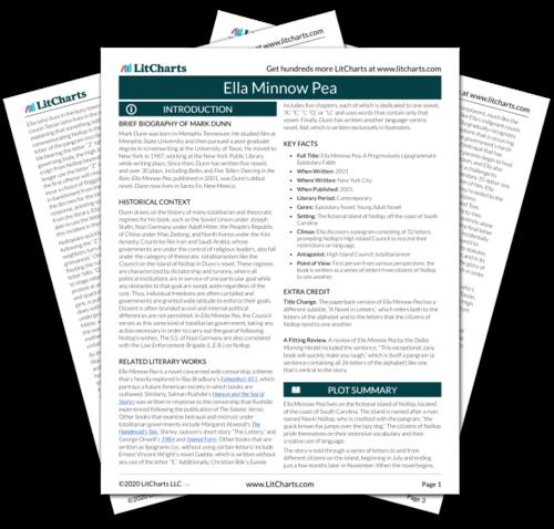 The printed PDF version of the LitChart on Ella Minnow Pea