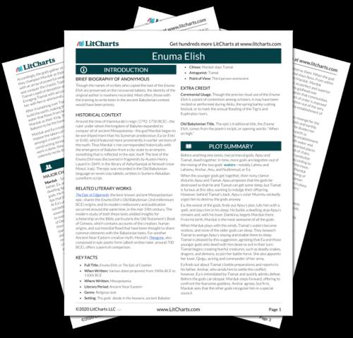 The printed PDF version of the LitChart on Enuma Elish