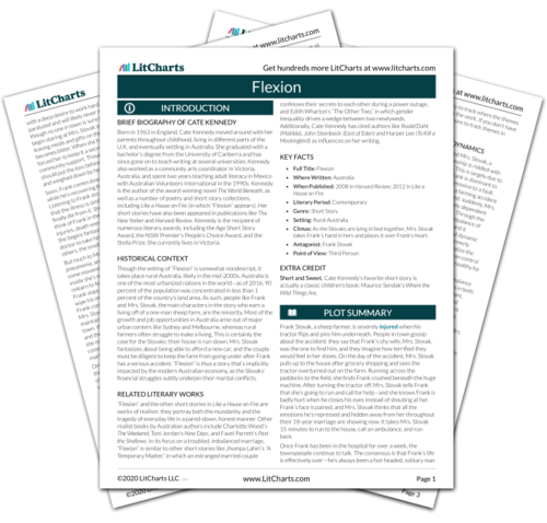 The printed PDF version of the LitChart on Flexion