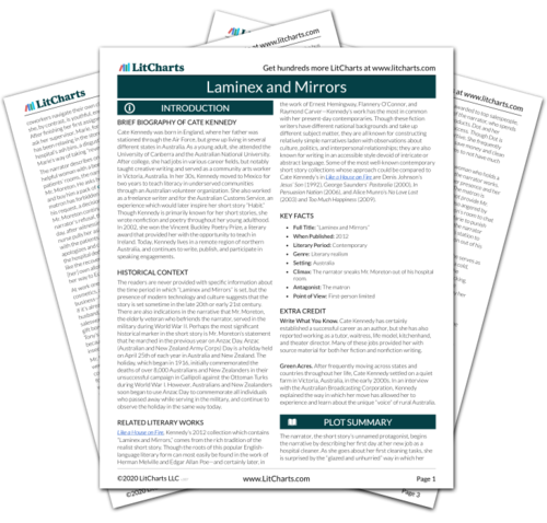 The printed PDF version of the LitChart on Laminex and Mirrors