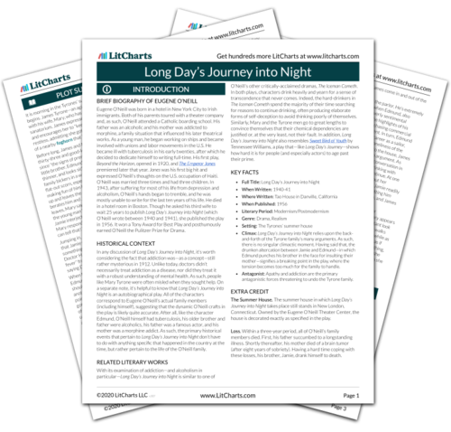 The printed PDF version of the LitChart on Long Day's Journey into Night