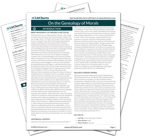 The printed PDF version of the LitChart on On the Genealogy of Morals