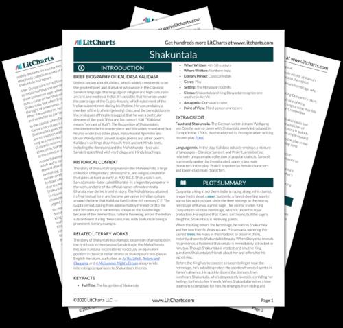 The printed PDF version of the LitChart on Shakuntala