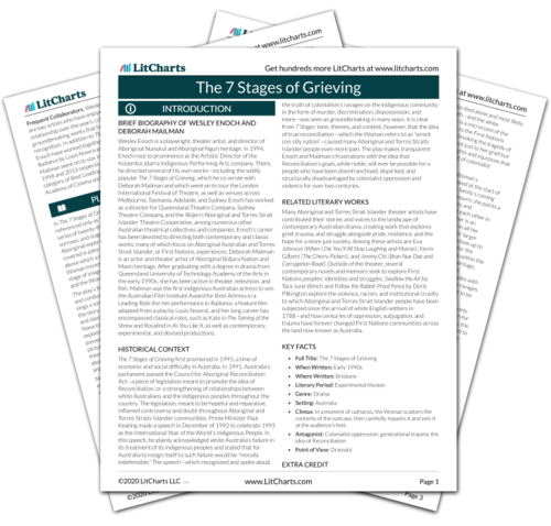 The printed PDF version of the LitChart on The 7 Stages of Grieving