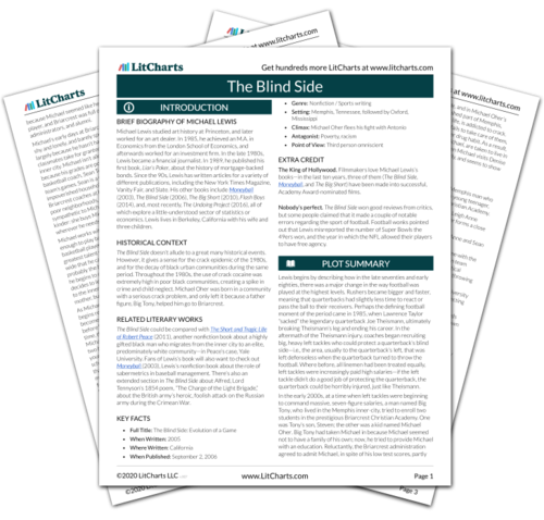 The Blind Side Study Guide From Litcharts  The Creators Of Sparknotes The Printed Pdf Version Of The Litchart On The Blind Side  Sample Of An Essay Paper also High School Essays Examples Of Essay Papers