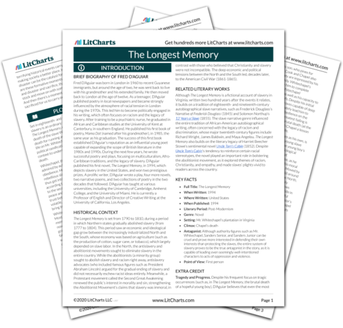 The printed PDF version of the LitChart on The Longest Memory