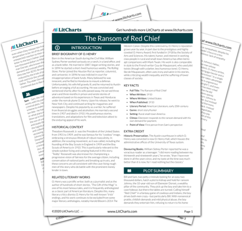 The printed PDF version of the LitChart on The Ransom of Red Chief