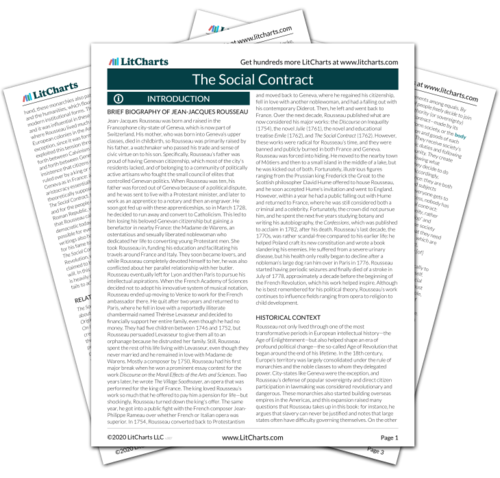 The printed PDF version of the LitChart on The Social Contract