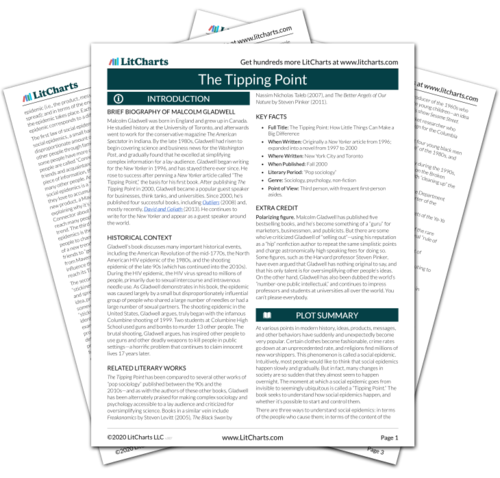 The printed PDF version of the LitChart on The Tipping Point