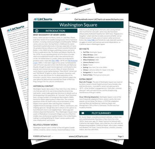 The printed PDF version of the LitChart on Washington Square