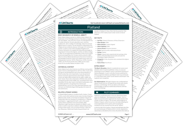 Flatland Study Guide From Litcharts The Creators Of Sparknotes