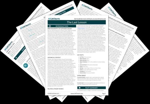 The Last Lesson PDF