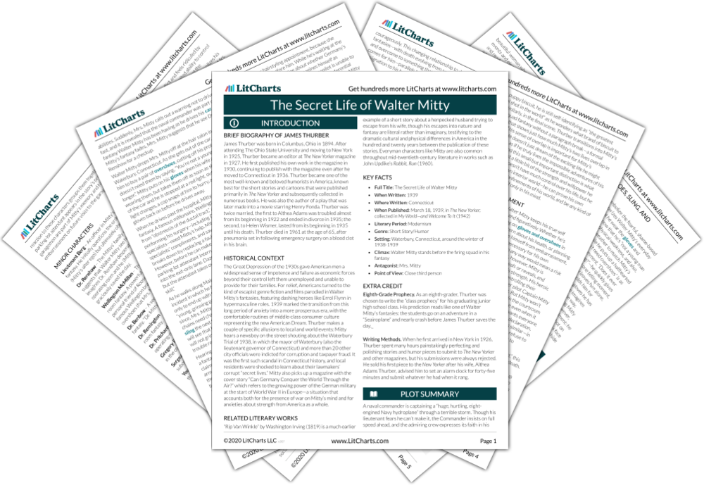 The LitCharts guide to The Secret Life of Walter Mitty