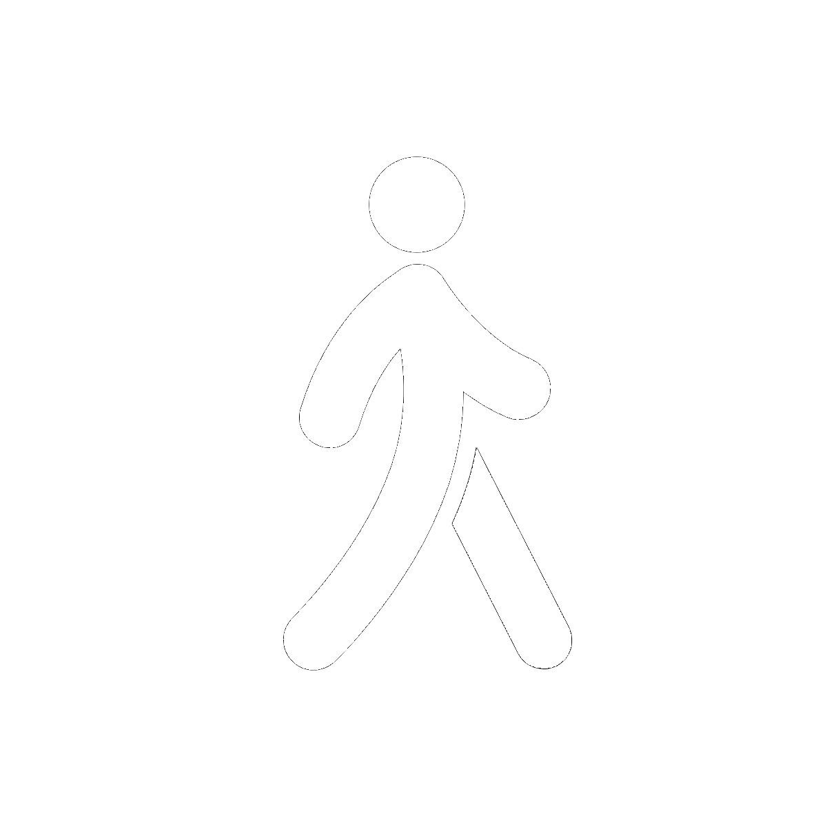 Symbol Walking Away
