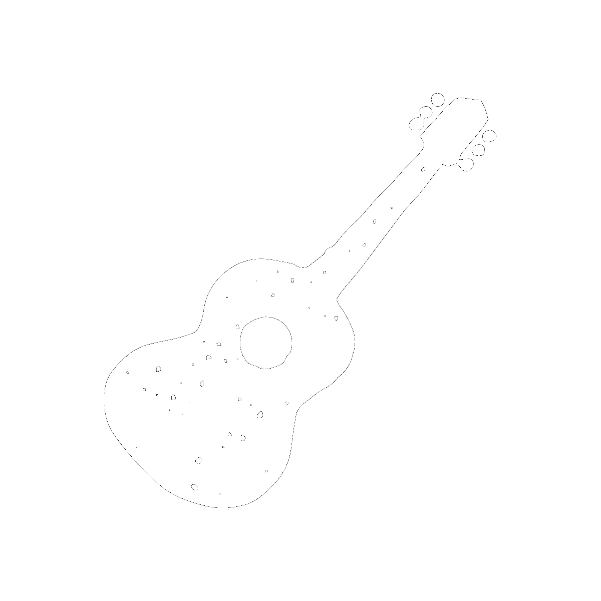 Symbol The Guitar and Bust of Shakespeare