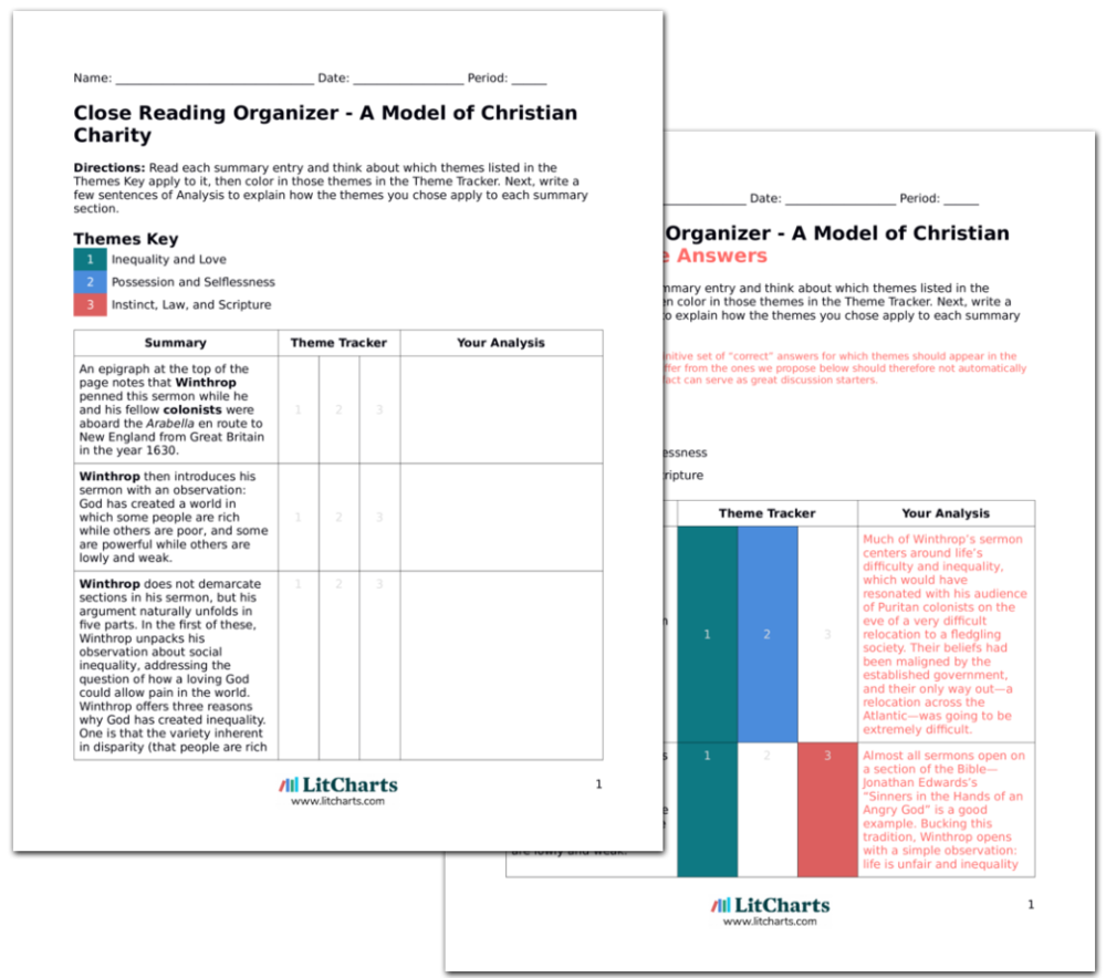 A Model of Christian Charity Quotes from LitCharts | The