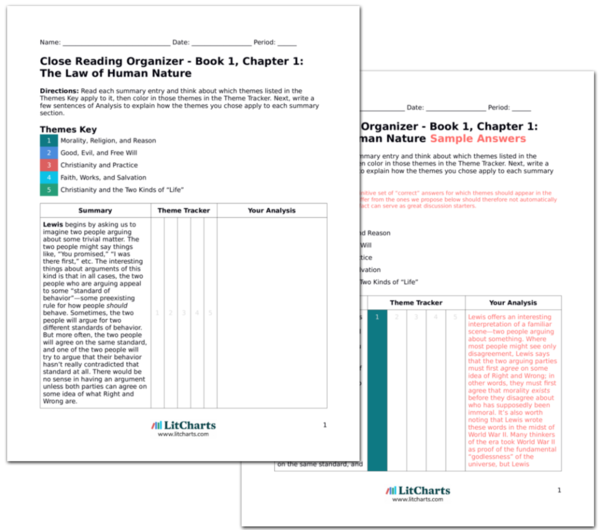 The LitCharts A<sup>+</sup> Teacher Edition of Mere Christianity