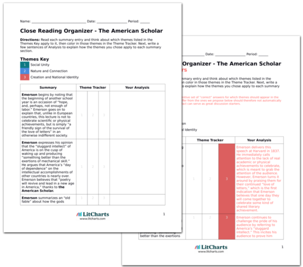 The LitCharts A<sup>+</sup> Teacher Edition of The American Scholar